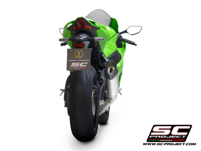 KAWASAKI NINJA ZX-10R - RR (2021) SC1-R Muffler, titanium, with carbon fiber end cap, with de-cat link pipe