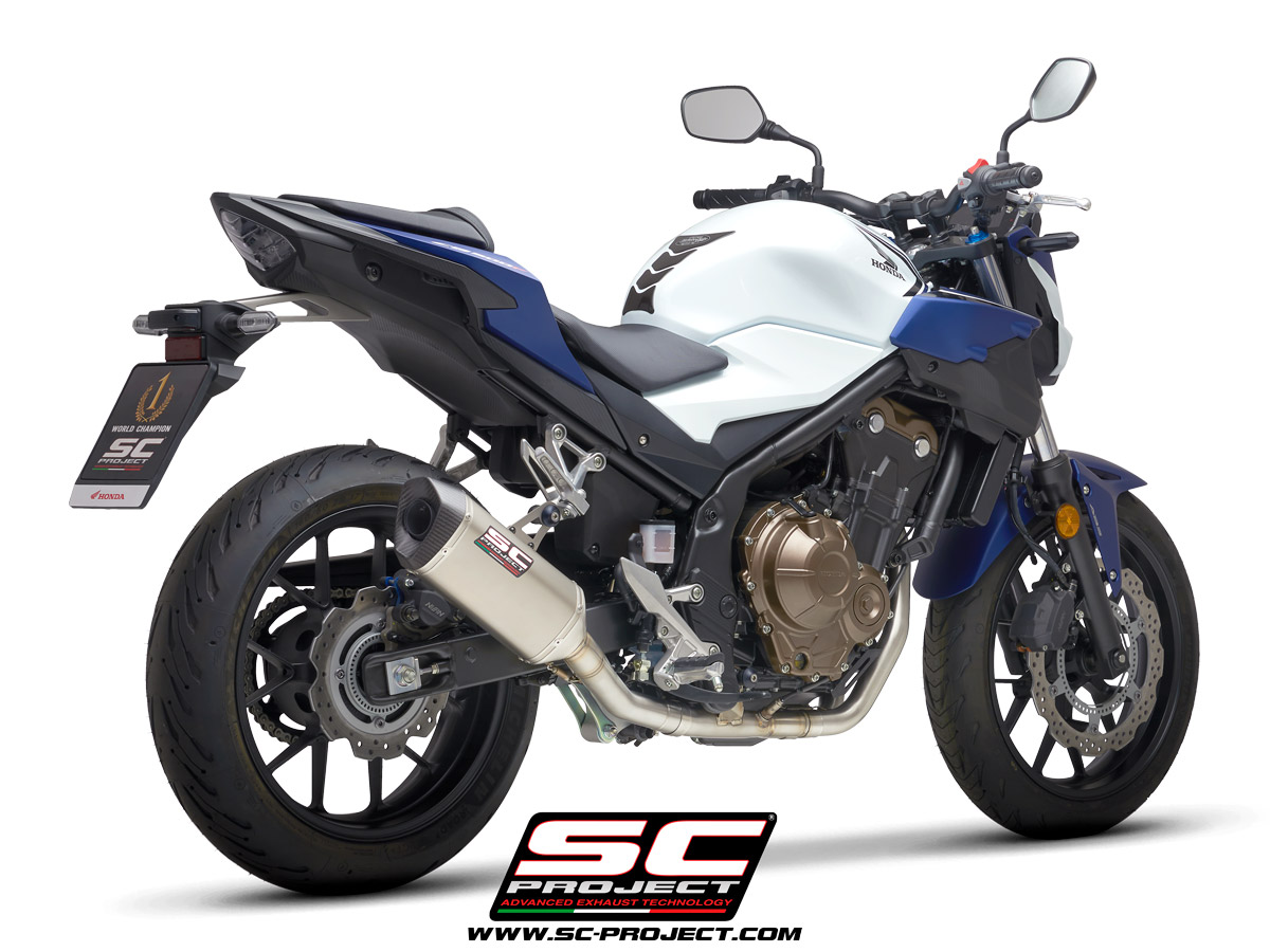 HONDA CB500 (2021) - F - X - EURO 5 2-1 headers, compatible with SC1-M and Oval mufflers (muffler not included)