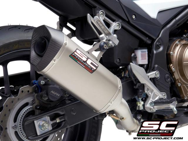 HONDA CBR500R (2021) - EURO 5 SC1-M Muffler, with Carbon fiber end cap