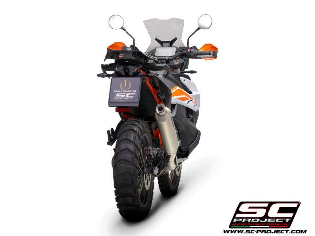 KTM 890 Adventure / 890 Adventure A2 (2021) Full Exhaust System 2-1, with Rally Raid Muffler, Titanium