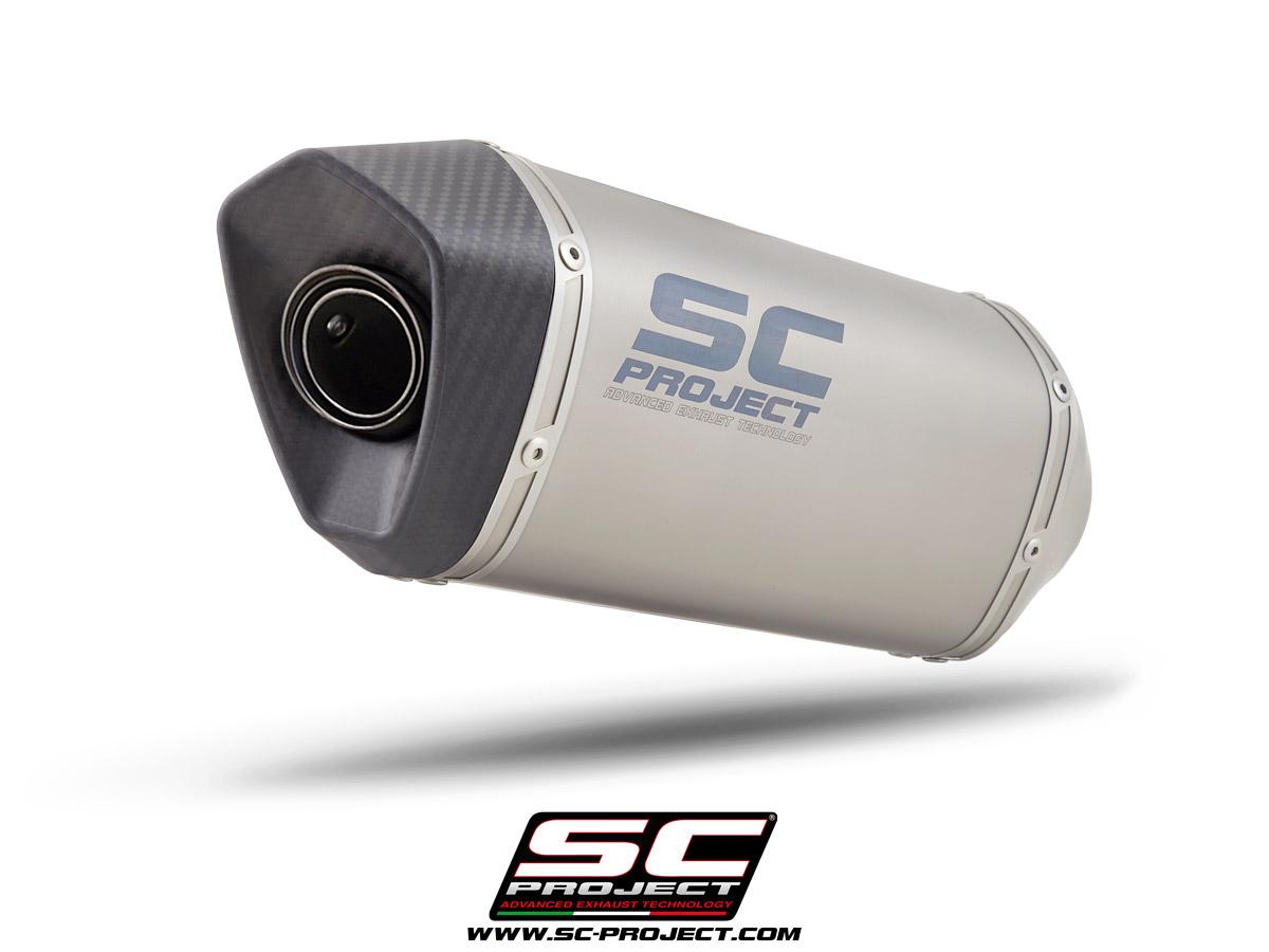 SUZUKI SV650 / SV650 A2 (2021) - EURO 5 SC1-M Muffler, with Carbon fiber end cap