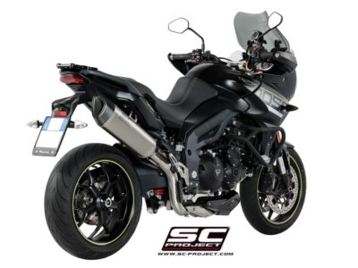 TRIUMPH TIGER SPORT 1050 (2021) - EURO 5 SC1-R Muffler, high position, with Carbon fiber end cap