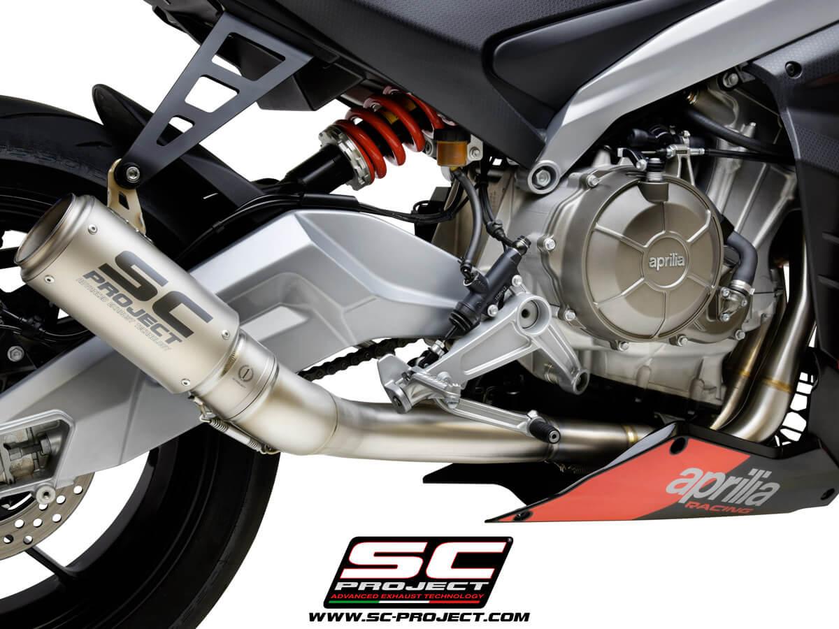 APRILIA RS 660 (2020 - 2021) Full exhaust system 2-1, titanium, with CR-T Muffler