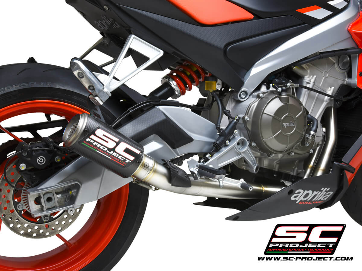 APRILIA RS 660 (2020 - 2021) Full exhaust system 2-1, Stainless steel AISI 304, with CR-T Muffler