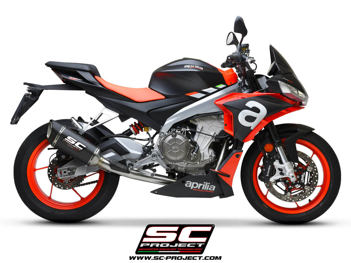 APRILIA TUONO 660 (2021) Full exhaust system 2-1, Stainless steel AISI 304, with SC1-R Muffler