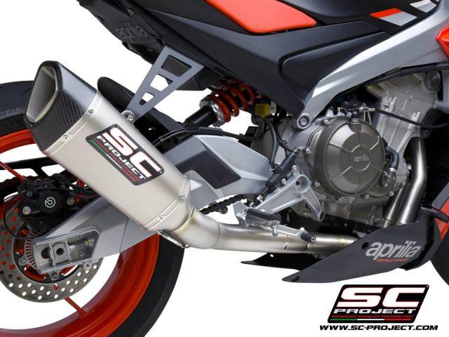 """APRILIA TUONO 660 (2021) Full exhaust system 2-1 """"Trofeo"""", titanium, with SC1-R Muffler"""