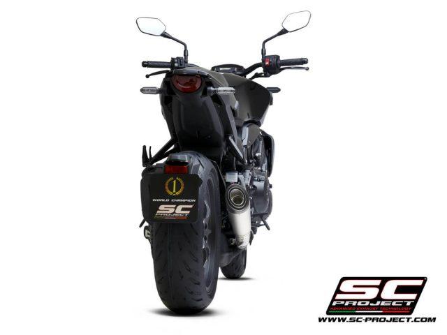 HONDA CB1000R (2021) S1 Muffler, titanium, with carbon fiber end cap