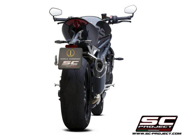 TRIUMPH SPEED TRIPLE 1200 RS (2021) - RR SC1-R GT Muffler, Carbon, with Carbon fiber end cap