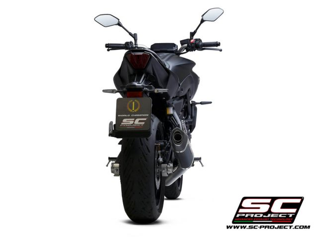 YAMAHA MT-07 (2021) Full 2-1 stainless steel exhaust system, with SC1-S carbon muffler - RACING