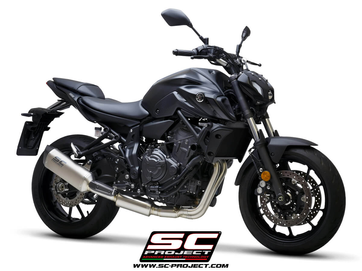 YAMAHA MT-07 (2021) Full 2-1 stainless steel exhaust system, with SC1-S titanium muffler - EURO 5