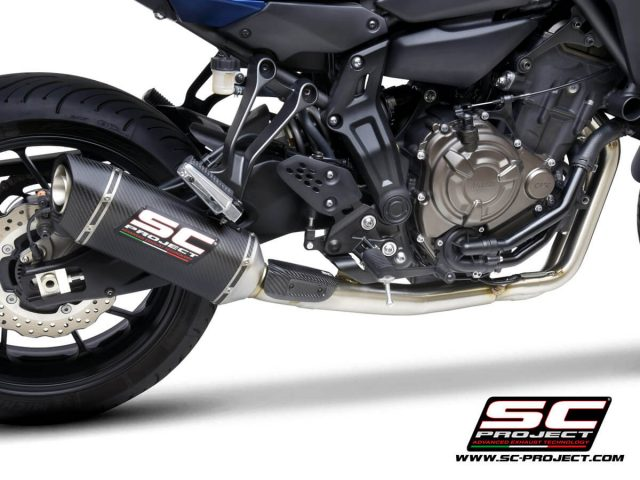 YAMAHA TRACER 700 (2020) - TRACER 7 (2021) - GT - EURO 5 Full 2-1 stainless steel exhaust system, with SC1-S carbon muffler - RACING