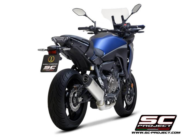 YAMAHA TRACER 700 (2020) - TRACER 7 (2021) - GT - EURO 5 Full 2-1 stainless steel exhaust system, with SC1-S titanium muffler - EURO 5